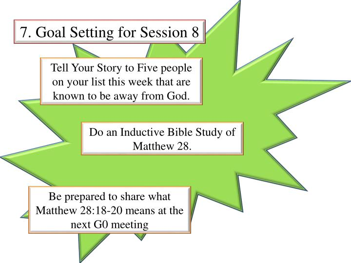 7. Goal Setting for Session 8
