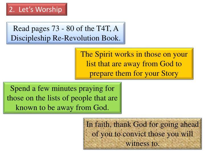 2.  Let's Worship