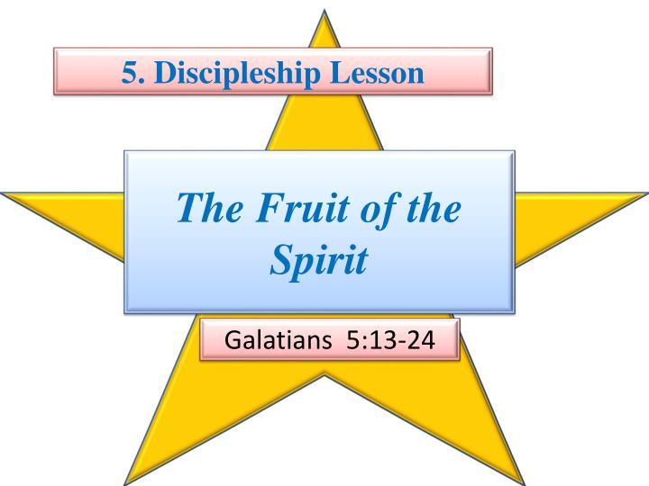 5. Discipleship Lesson