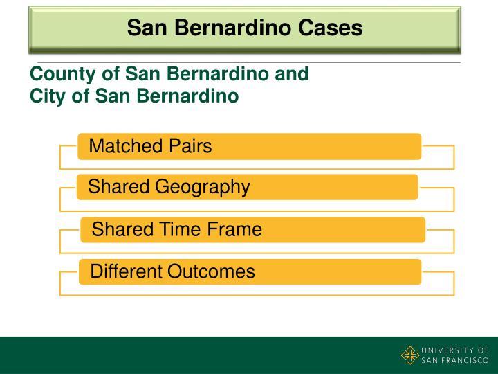 San Bernardino Cases
