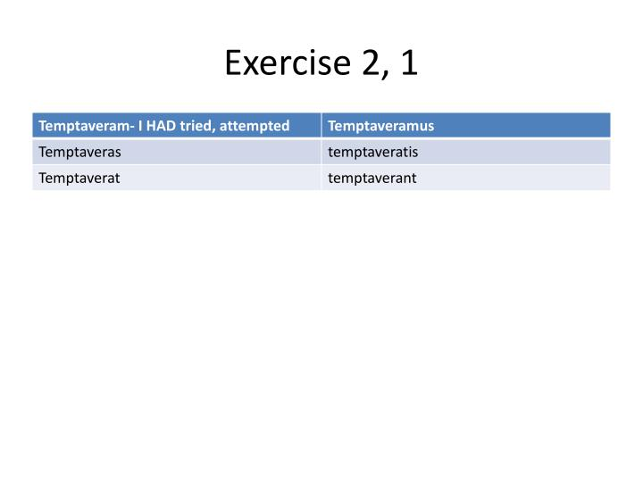 Exercise 2, 1