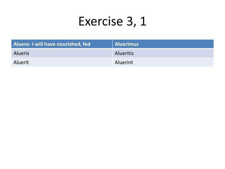 Exercise 3, 1