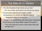 the yoke of un slavery
