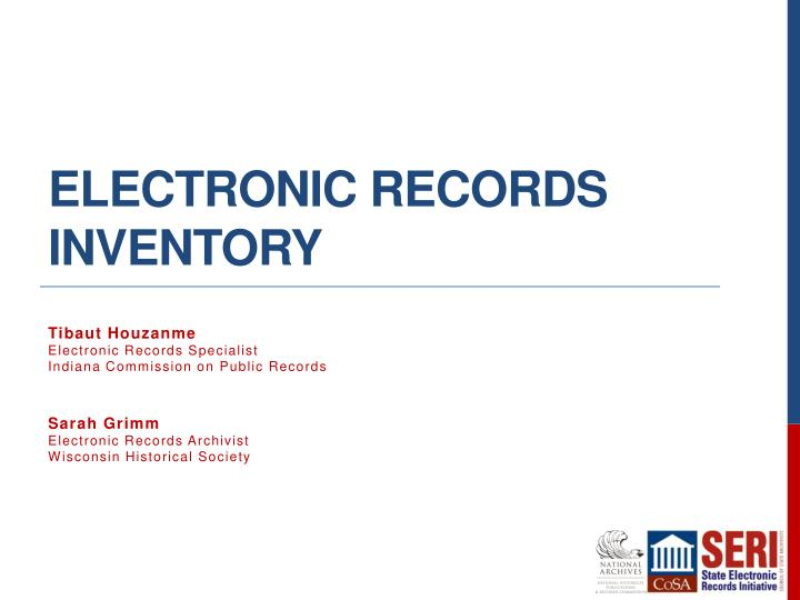 Electronic Records Inventory