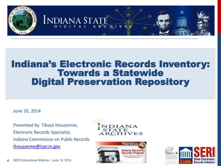 Indiana's Electronic Records