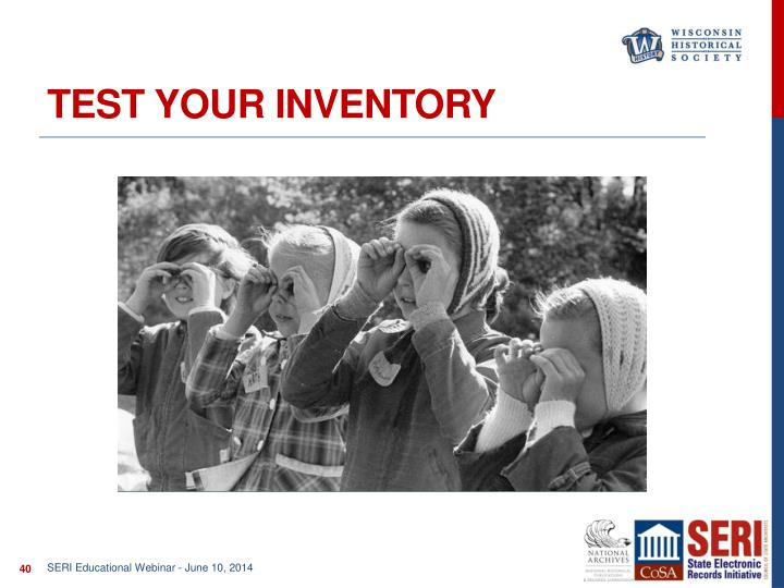 Test Your inventory