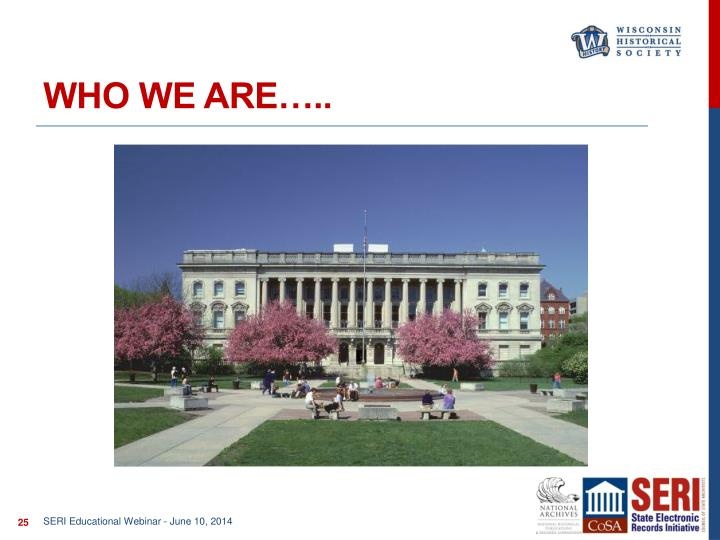 Who we are…..