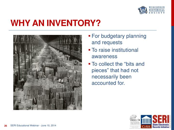 Why an Inventory?