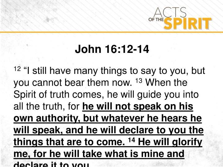 John 16:12-14