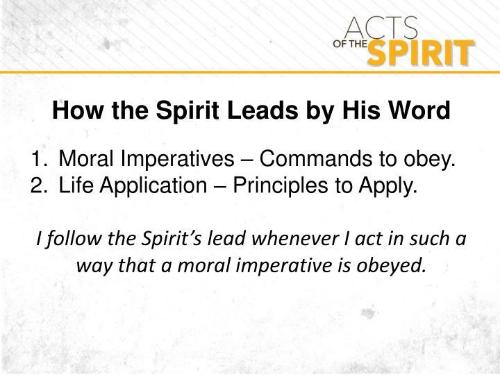How the Spirit