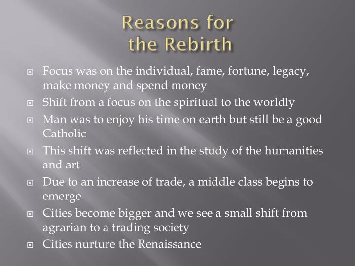 Reasons for