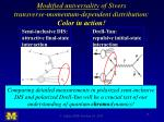 modified universality of sivers transverse momentum dependent distribution color in action