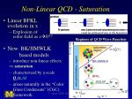 non linear qcd saturation