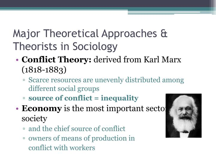 Major Theoretical Approaches & Theorists in Sociology