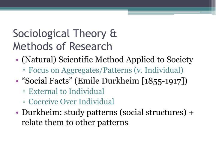 Sociological Theory &