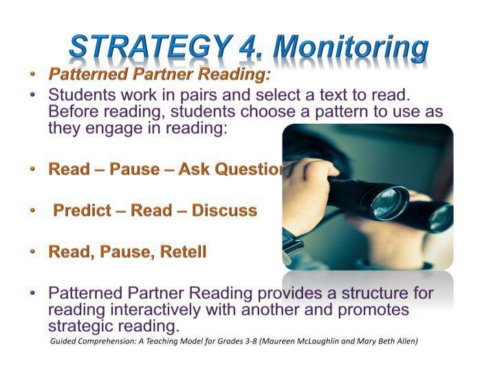 STRATEGY 4. Monitoring