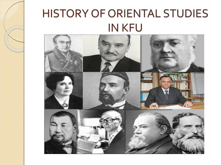 History of oriental studies in kfu