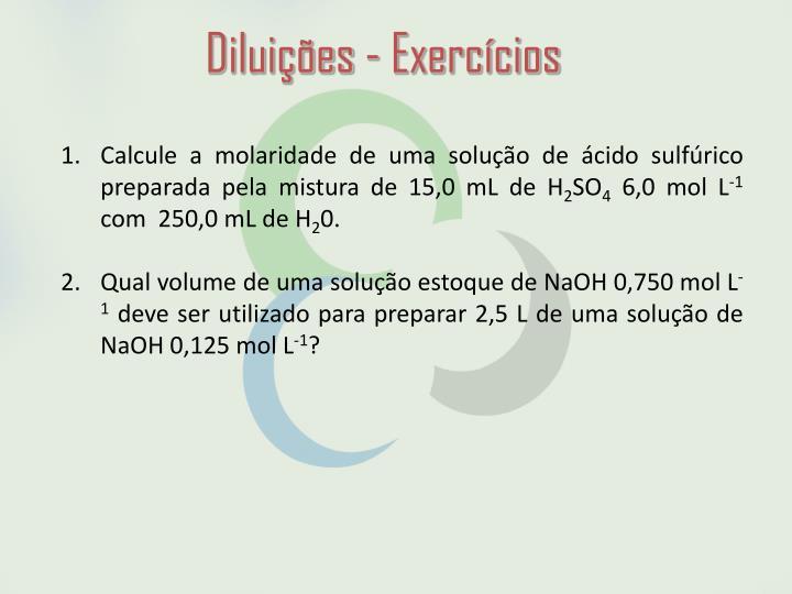Diluições - Exercícios
