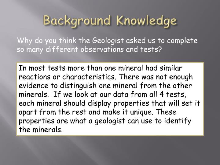 Background knowledge1
