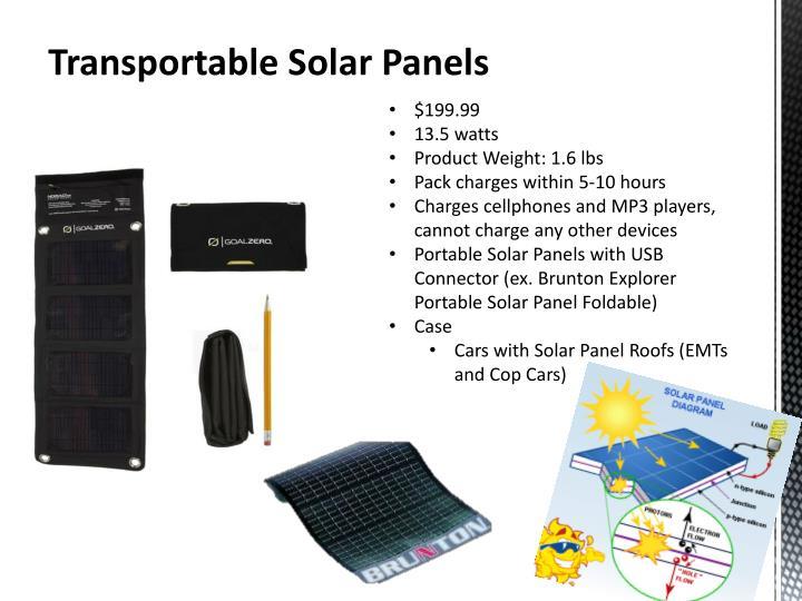 Transportable Solar Panels