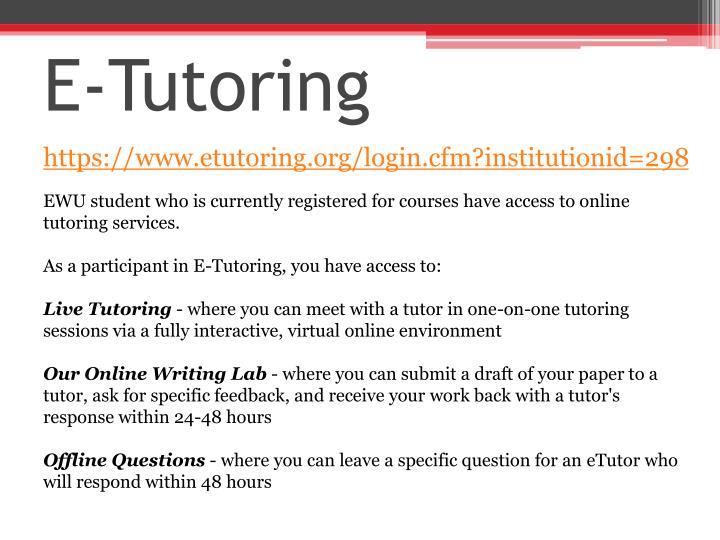 E-Tutoring