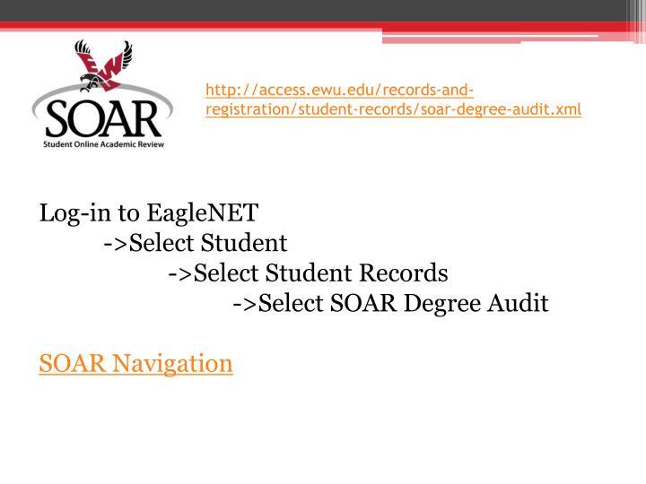 http://access.ewu.edu/records-and-registration/student-records/soar-degree-audit.xml