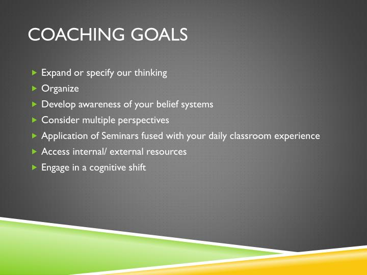 Coaching Goals
