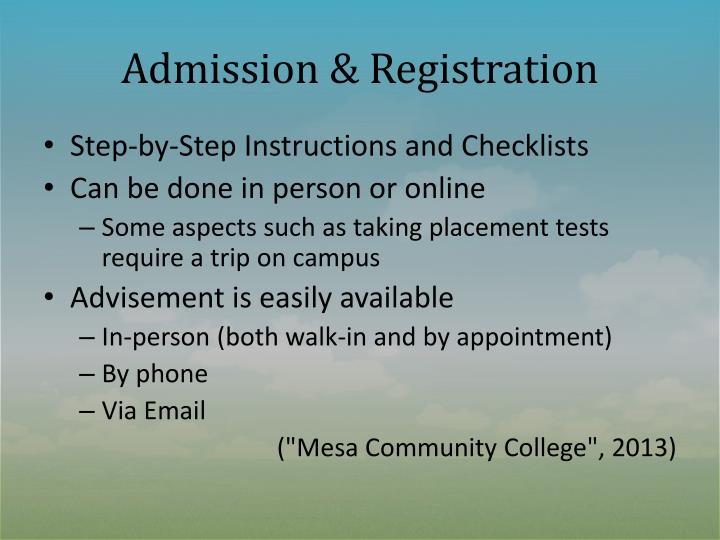 Admission & Registration