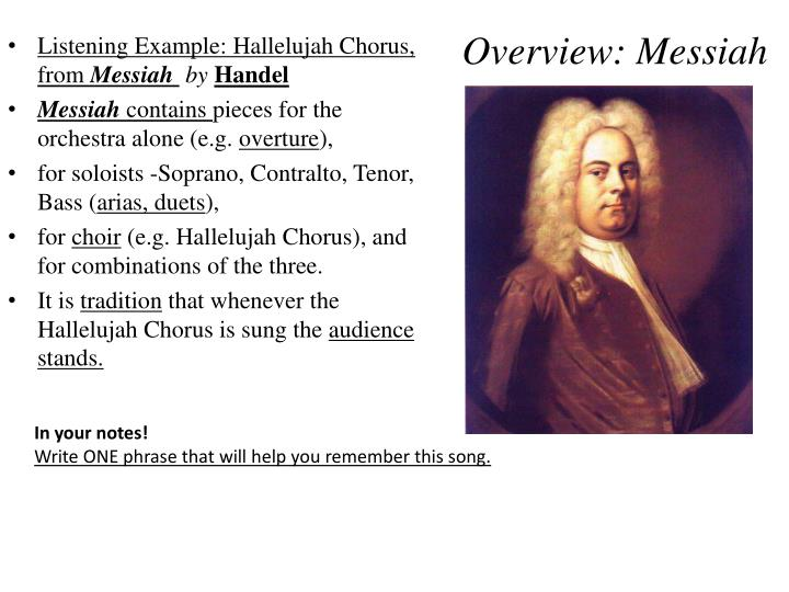 Overview: Messiah