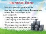 operational theory