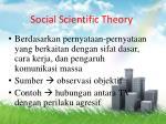 social scientific theory