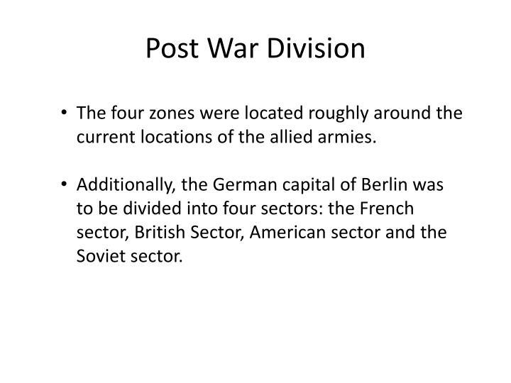 Post War Division