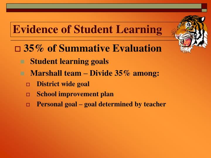 Evidence of Student Learning
