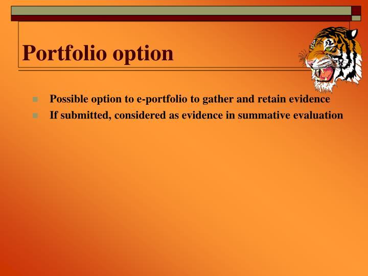 Portfolio option