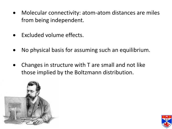 Molecular connectivity: atom-atom distances are miles from being independent.