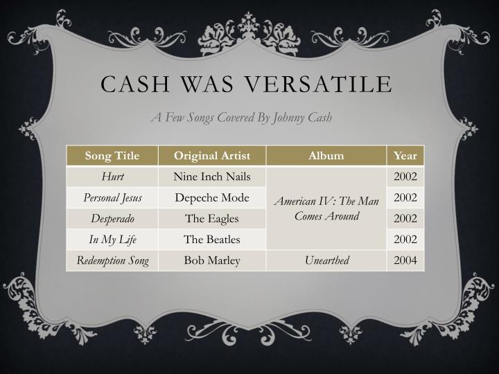 A Few Songs Covered By Johnny Cash
