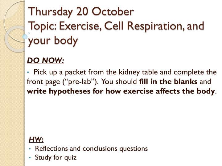 Thursday 20 October