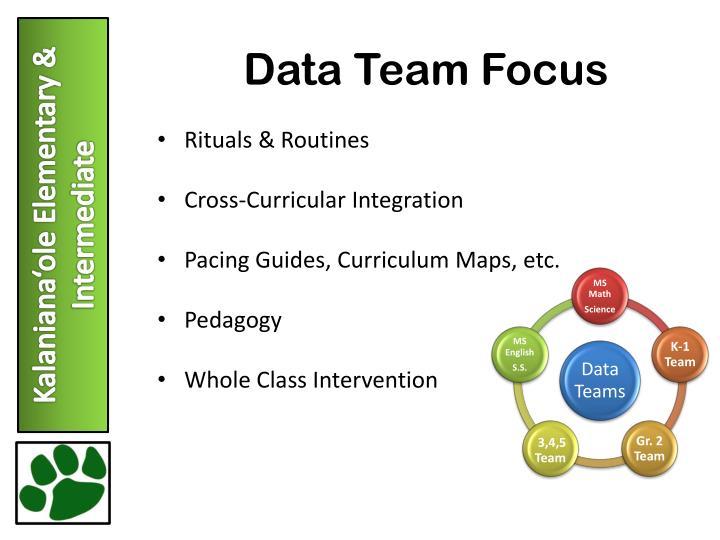 Data Team Focus