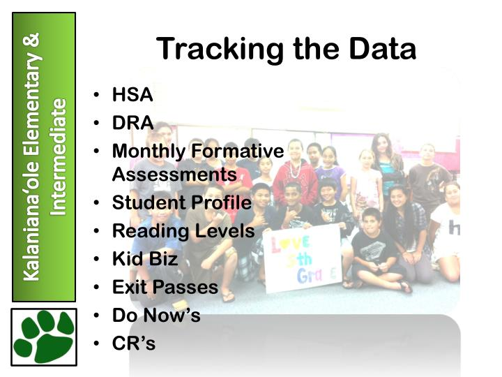 Tracking the Data