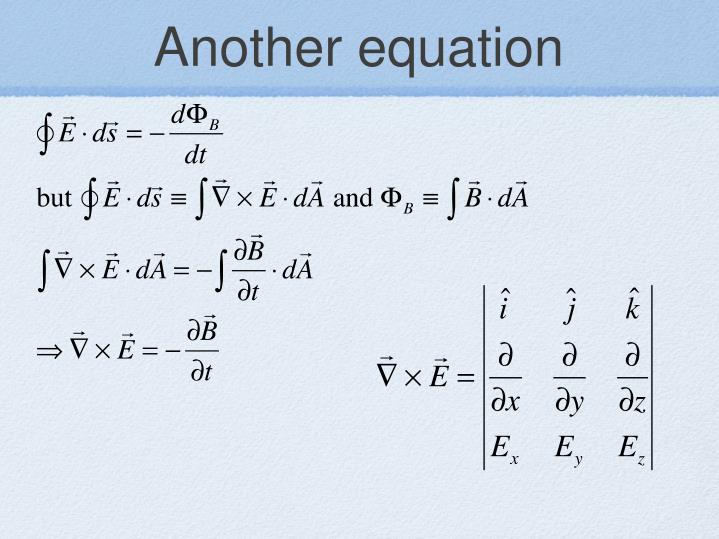 Another equation