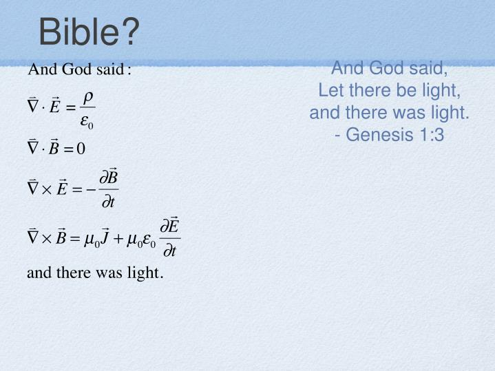 Bible?