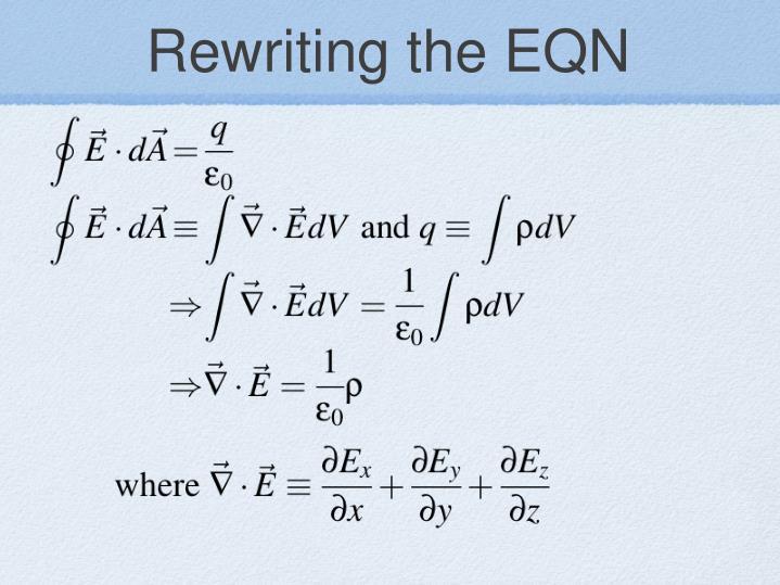 Rewriting the EQN