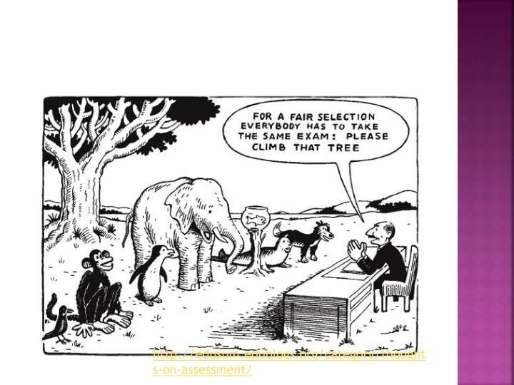 http://edusum.edublogs.org/category/thoughts-on-assessment/