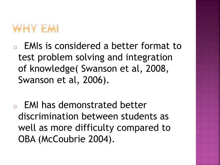 Why EMI