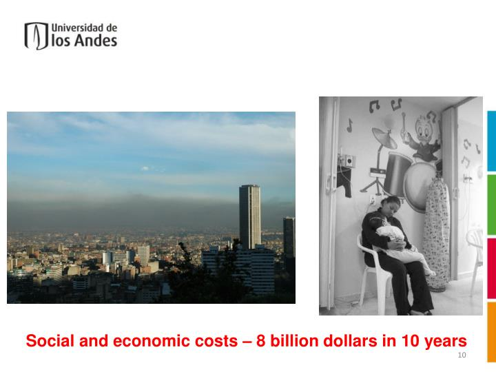 Social and economic costs – 8 billion dollars in 10 years