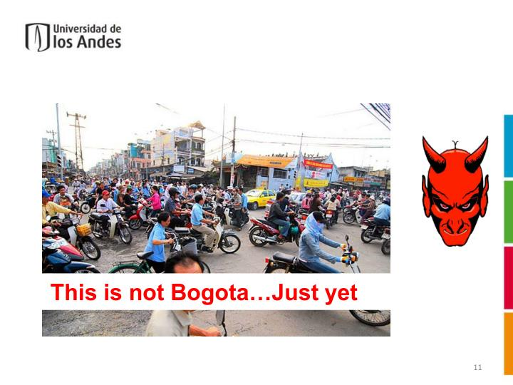This is not Bogota…Just yet