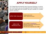 apply yourself