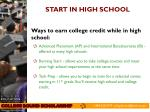 start in high school