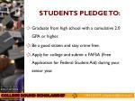 students pledge to
