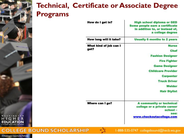 Technical,  Certificate or